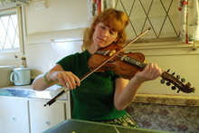 Percy's Hardanger fiddle breathes again